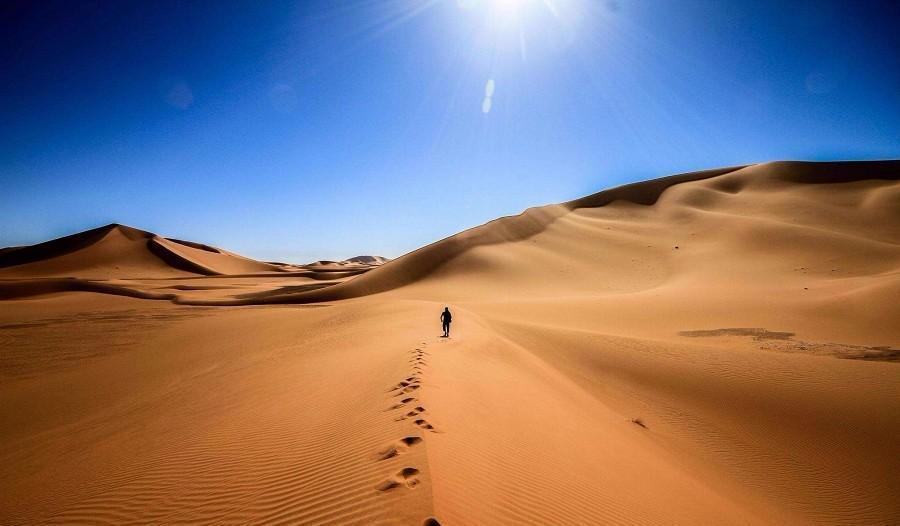库布齐沙漠徒步感受